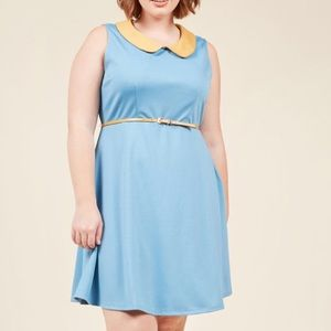 ModCloth Work to Play A-Line Dress in Sky